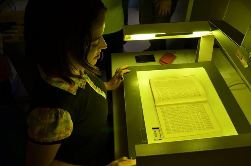 Microfilmagem aparelho máquina digitalização